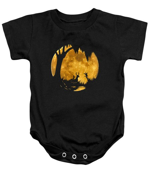 Wetland Wildlife Massive Moon .png Baby Onesie by Al Powell Photography USA