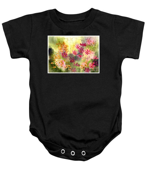 Where The Pink Flowers Grow Baby Onesie