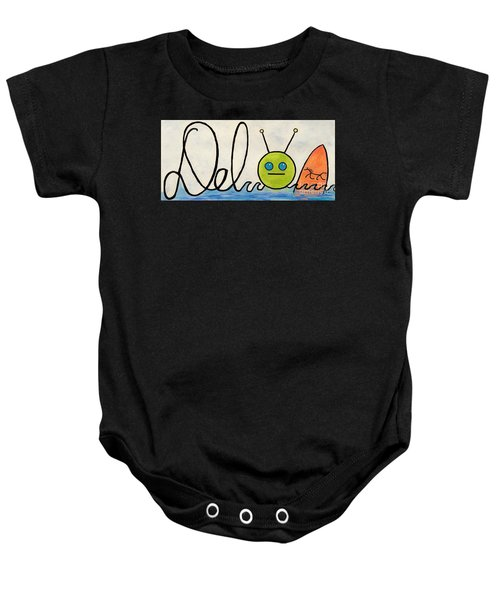 Where The Turf Meets The Surf Baby Onesie