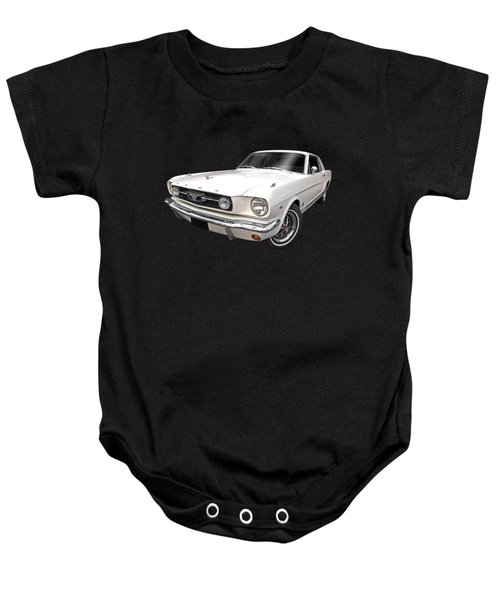 White 1966 Mustang Baby Onesie
