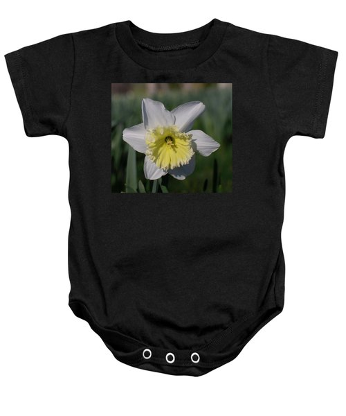 White And Yellow Daffodil Baby Onesie