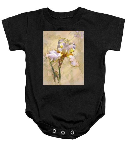 White And Yellow Iris Baby Onesie