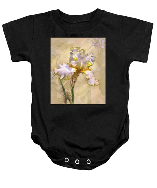White And Yellow Iris Baby Onesie