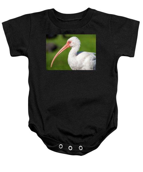 White Ibis Baby Onesie