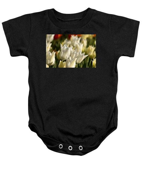 White Triumphator Baby Onesie