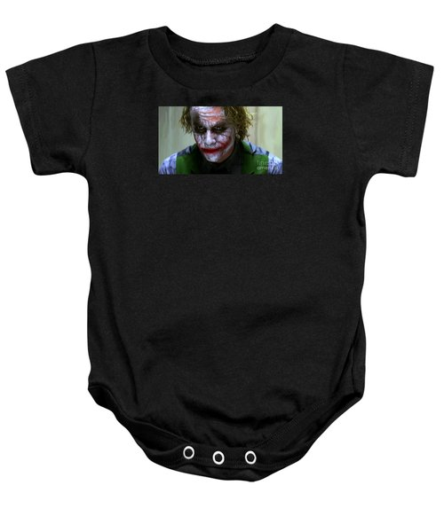 Why So Serious Baby Onesie by Paul Tagliamonte