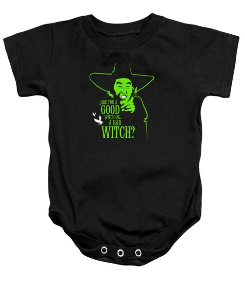 Wicked Witch Of West Baby Onesie by Mos Graphix