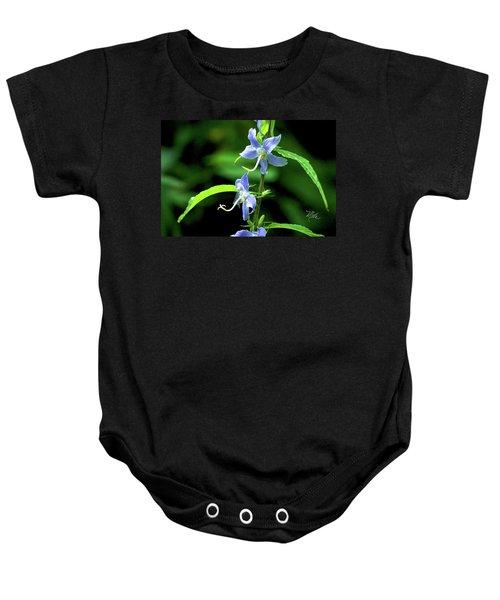 Wild Blue Flowers Baby Onesie
