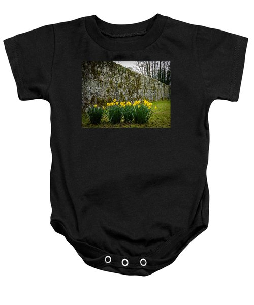 Baby Onesie featuring the photograph Wild Daffodils At Coole Park by James Truett