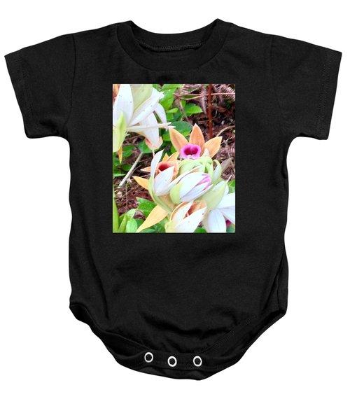 Wild Orchids In Pastel Baby Onesie
