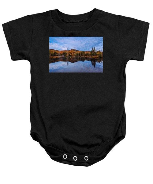 Wildlife Pond Autumn Reflection Baby Onesie