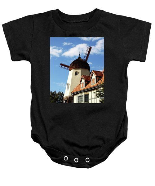 Windmill At Solvang, California Baby Onesie