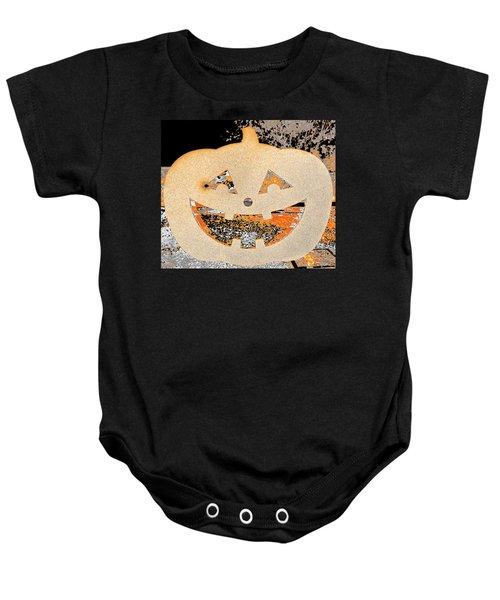 Window Pumpkin #3 Baby Onesie