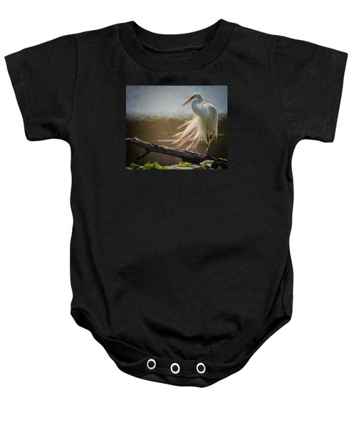 Windy Egret  Baby Onesie