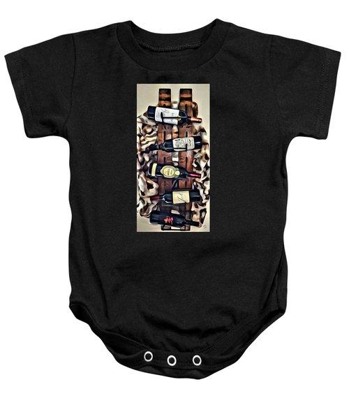 Wine Rack Baby Onesie