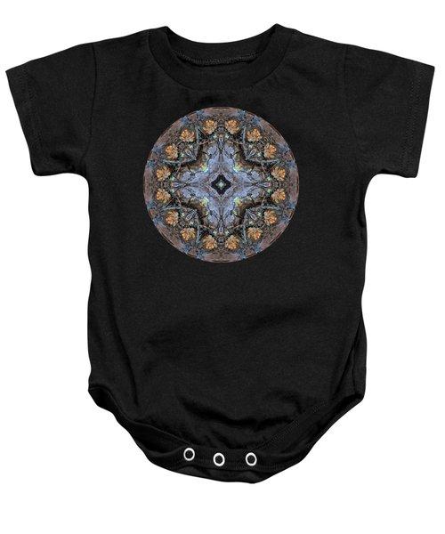 Winged Creatures In A Star Kaleidoscope #1 Baby Onesie