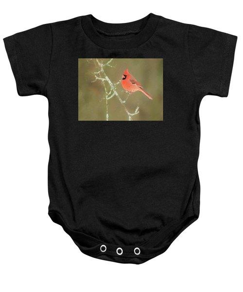 Winter Cardinal Baby Onesie