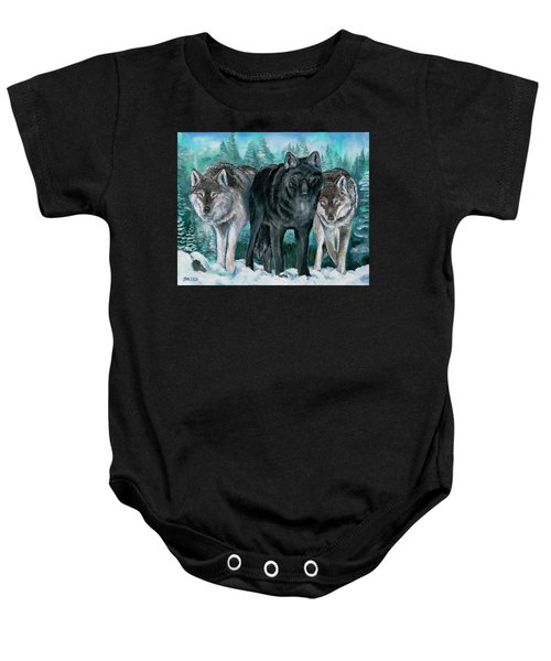 Winter Wolves Baby Onesie