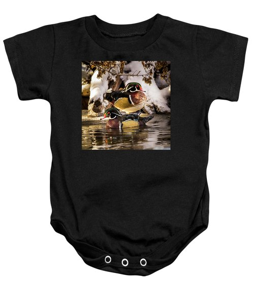 Wintering Wood Ducks Baby Onesie