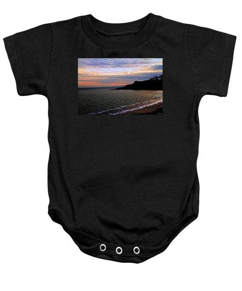Winter's Beachcombing Baby Onesie