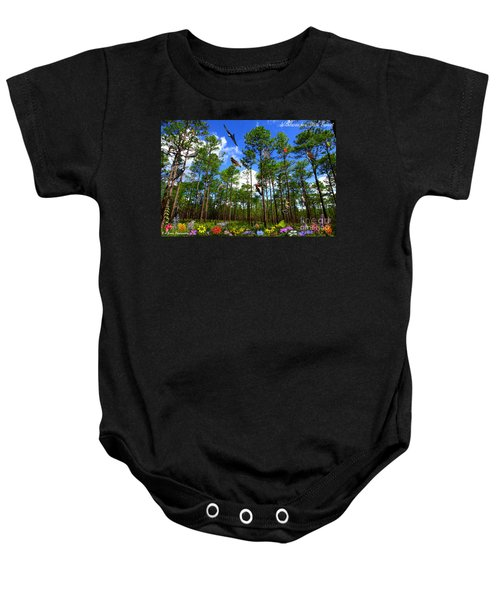 Withlacoochee State Forest Nature Collage Baby Onesie