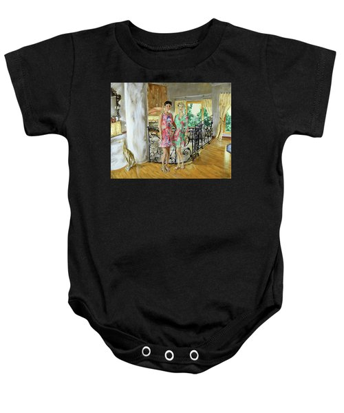 Women In Sunroom Baby Onesie