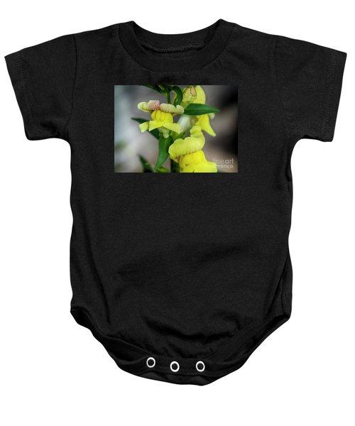 Wonderful Nature - Yellow Antirrhinum Baby Onesie