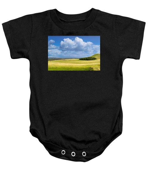Wood Copse On A Hill Baby Onesie
