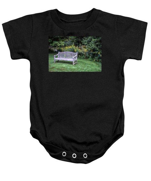 Woodstock Bench Baby Onesie