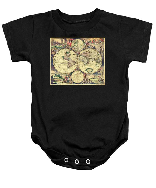World Map 1689 Baby Onesie