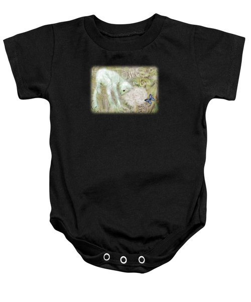 Worthy Is The Lamb - Quote Baby Onesie