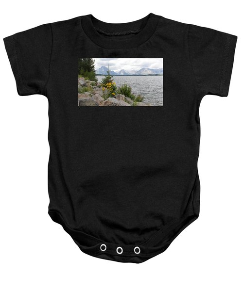 Wyoming Mountains Baby Onesie