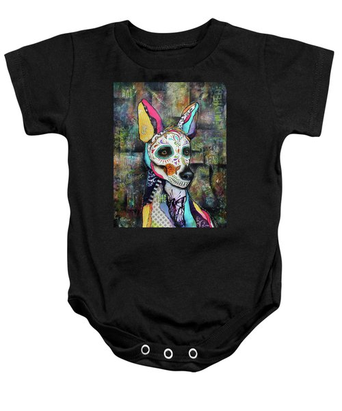 Xolo Mexican Hairless Day Of The Dead Baby Onesie
