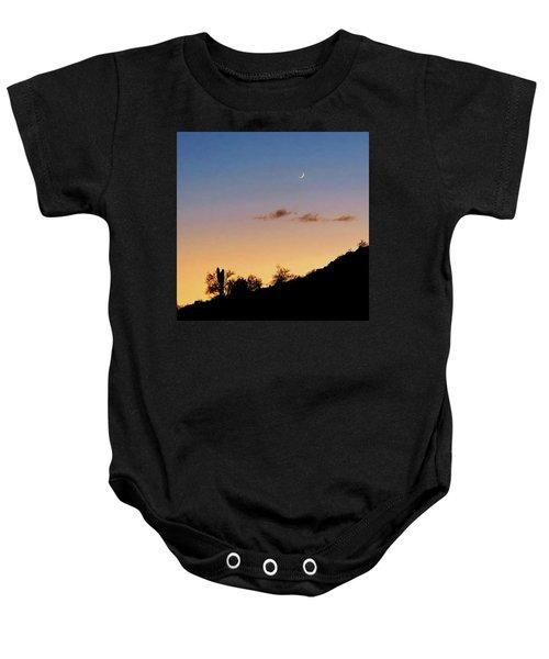 Y Cactus Sunset Moonrise Baby Onesie