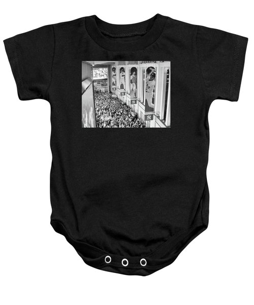 Yankee Stadium Great Hall 2009 World Series Black And White Baby Onesie