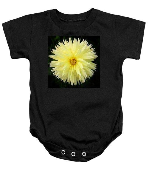 Yellow Dahlia Baby Onesie