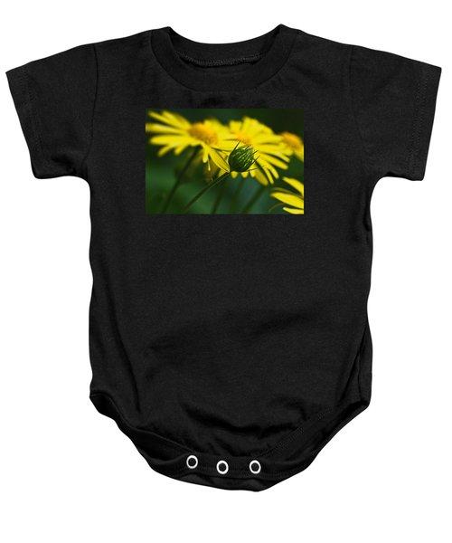 Yellow Daisy Bud Baby Onesie