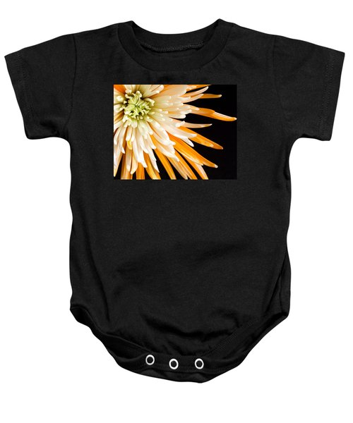 Yellow Flower On Black Baby Onesie