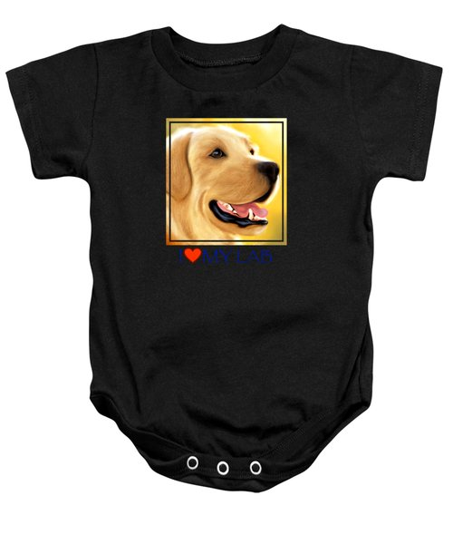 Yellow Lab Portrait Baby Onesie