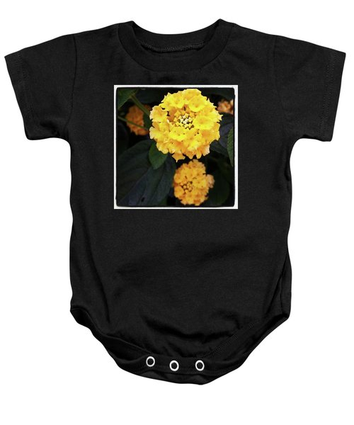 Baby Onesie featuring the photograph Yellow Lantanas Along The Scenic Drive by Mr Photojimsf