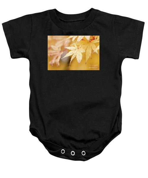 Yellow Leaf With Red Veins Baby Onesie