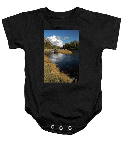 Yellowstone Nat'l Park Madison River Baby Onesie