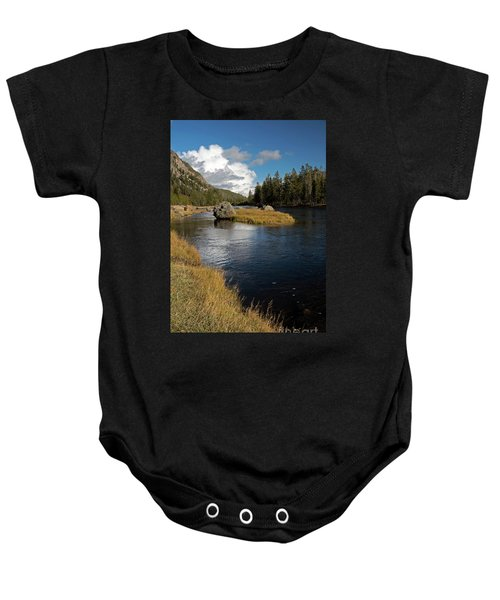 Yellowstone Nat'l Park Madison River Baby Onesie