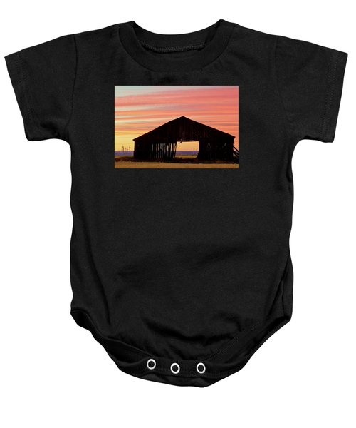 Yesterday And Today At Sunset Baby Onesie