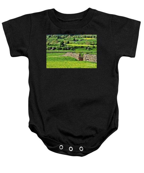 Yorkshire Dales Landscape Baby Onesie