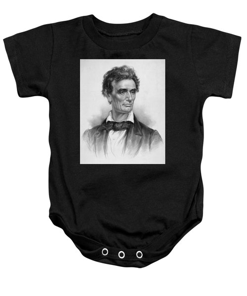Young Abe Lincoln Baby Onesie