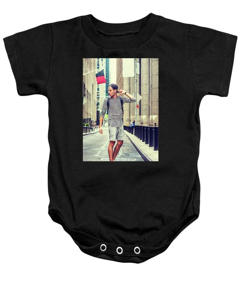 Young Russian Man Traveling In New York Baby Onesie
