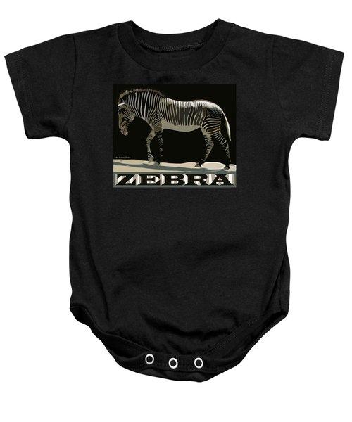 Zebra Design By John Foster Dyess Baby Onesie