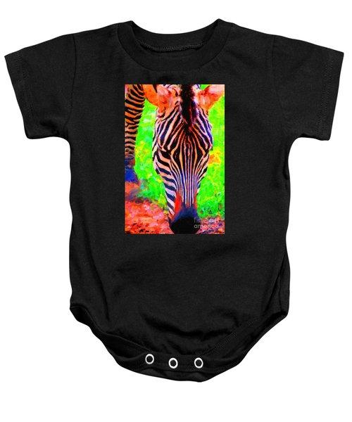 Zebra . Photoart Baby Onesie