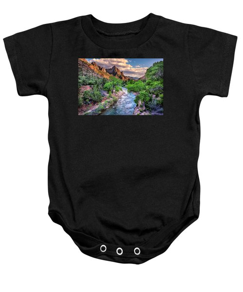 Zion Canyon At Sunset Baby Onesie